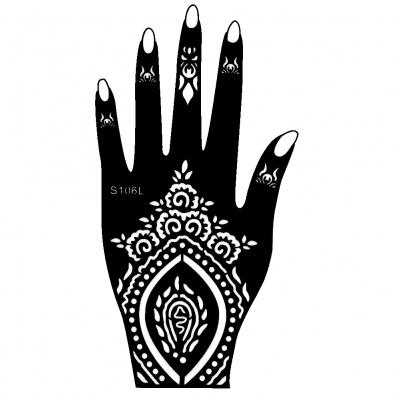 henna tattoo schablone f r die linke oder rechte hand der onlineshop f r. Black Bedroom Furniture Sets. Home Design Ideas