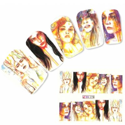 Tattoo Nail Art Manga Model Mädchen Nagel Sticker