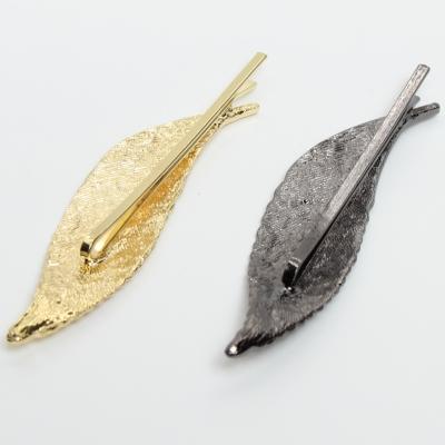 Metal Haarnadel / Haarklammer Blatt - 1