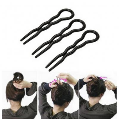 Magische Haarnadel für Hochsteckfrisuren in Braun oder Schwarz - 2
