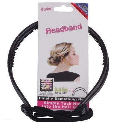 Frisurenhilfe Haarreif mit Haarband in Braun oder Schwarz - 2