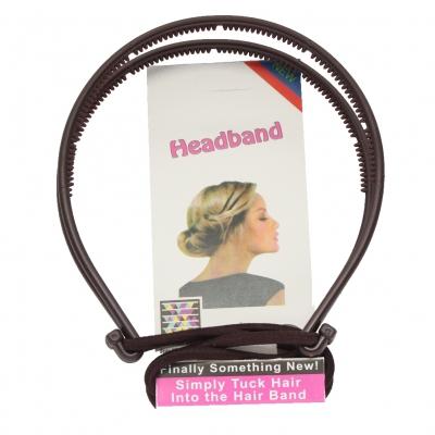 Frisurenhilfe Haarreif mit Haarband in Braun oder Schwarz - 3