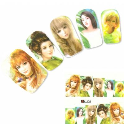 Tattoo Nail Art Japan Manga Girl Aufkleber Nagel Sticker