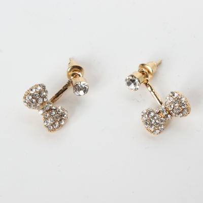 Schleife Strass Ohrstecker Ohrringe bow earrings - 1