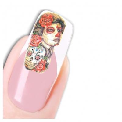 Tattoo Nail Art La Catrina Day of the Dead Dia de Muertos - 1