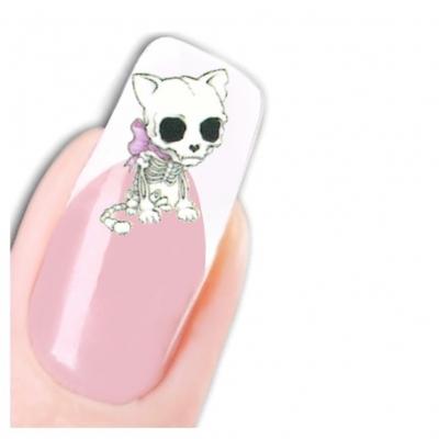 Tattoo Nail Horror Animals Hund Hase Smiley - 1