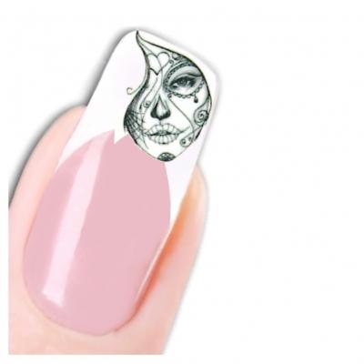 Tattoo Nail Art La Catrina Day of the Dead Dia de Muertos Totenkopf - 1