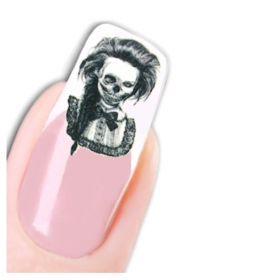 Tattoo Nail Art La Catrina Day of the Dead Dia de Muertos - 1