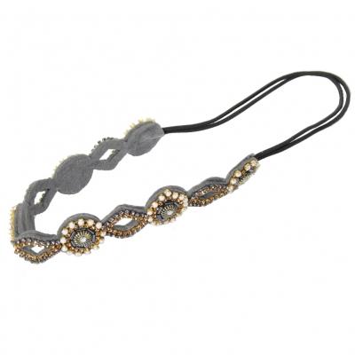 Luxus Haarband mit Strass und Pailletten - 1