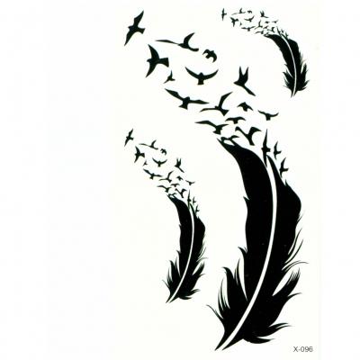Temporäres Tattoo Feder Vogel Körperkunst - 2