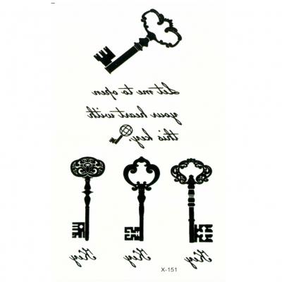 Temporäres Tattoo Schlüssel Key - 2