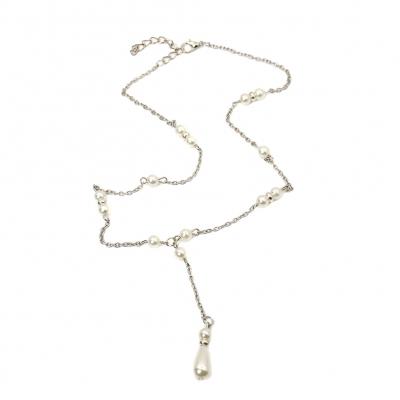 Halskette mit Perlen Anhänger - 1