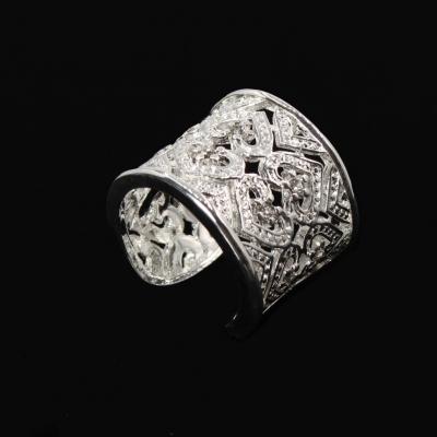 Luxus Edelstahl Ring verziert mit Herzen Gr. 60 = 19,1 mm Silber - 2