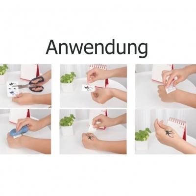 Temporäres Tattoo Schwalbe Vogel Anker - 1