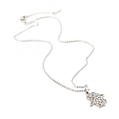 Halskette mit Strass Hand Anhänger - 1