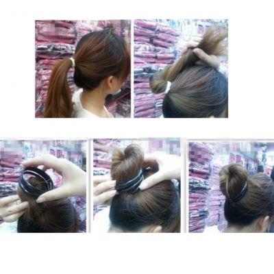 Spirale Frisurhilfe für Dutt - 4
