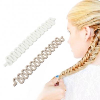 Frisurenhilfe zum Flechten der Haare Weiß - 1