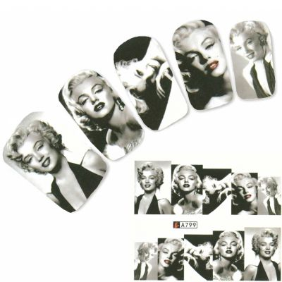Tattoo Nail Art Marilyn Monroe Nagel Sticker