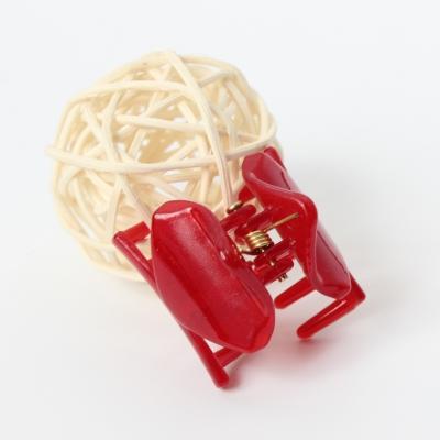 Mini Haarklammer Haarclip Rot - 1