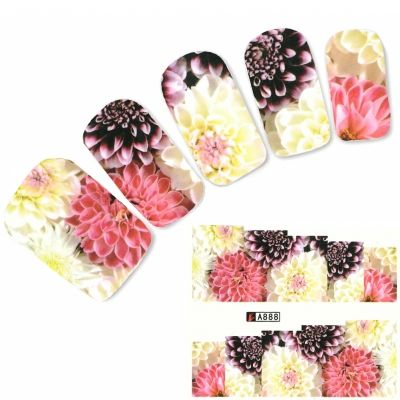 Tattoo Nail Blume Santini Nagel Sticker