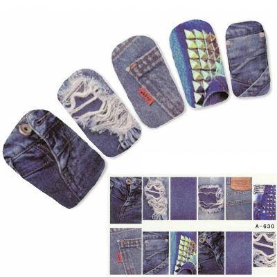 Tattoo Nail Jeans Po Tasche Nagel Sticker
