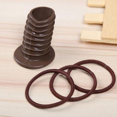 Pferdeschwanz Frisurenhilfe Styling-Zubehör-Set Braun - 1