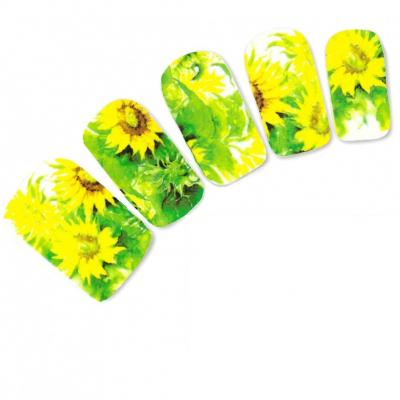 Tattoo Nail Blumen Bl�ten Sonnenblume Nagel Sticker - 2