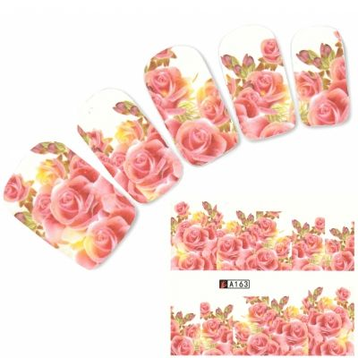 Tattoo Nail Blumen Rosen Bl�ten Nagel Sticker
