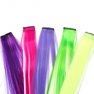 Clip Extensions Kunsthaar in der Farbe Pink - 3