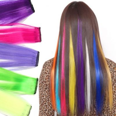 Clip Extensions Kunsthaar in der Farbe Pink - 5