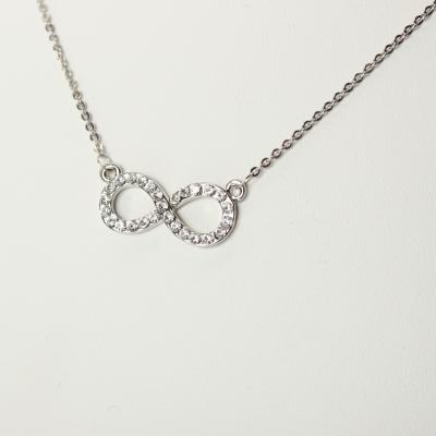 Halskette mit Unendlichkeitszeichen Infinity Unendlichkeit Strass ewige Liebe - 1
