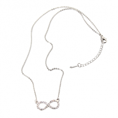 Halskette mit Unendlichkeitszeichen Infinity Unendlichkeit Strass ewige Liebe - 2