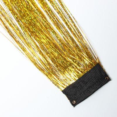 Clip Extensions Glitzer Lametta in der Farbe Gold - 2