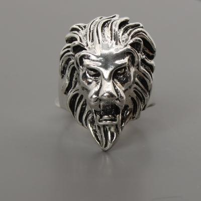 3D Edelstahl Ring L�we L�wenkopf Silber - 2