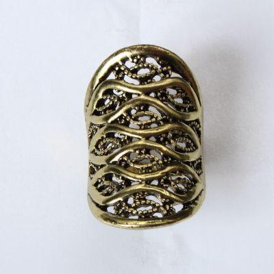 Edelstahl Ring Bronze - 2