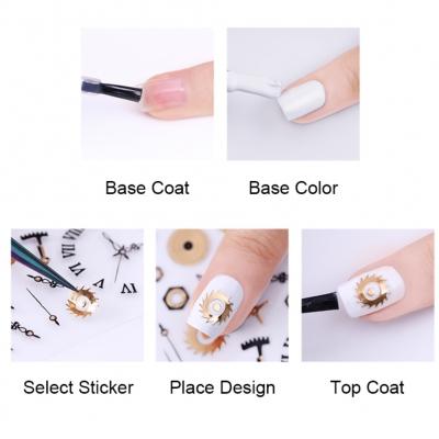 3D Nagel Sticker Nail Art Ornamente Stikerein Aufkleber Neu Modell 4 - 2