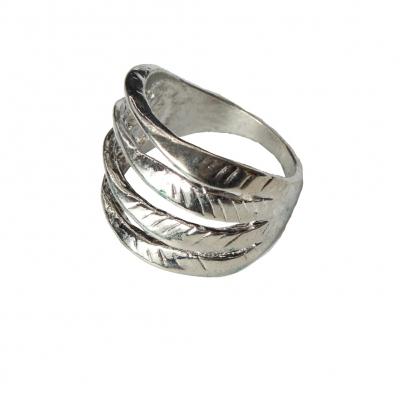 Edelstahl Ring Silber - 1