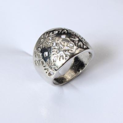 Edelstahl Ring Silber - 2