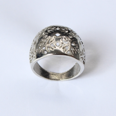 Edelstahl Ring Silber - 3