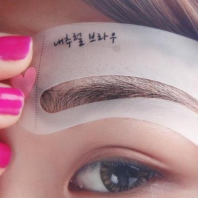3er SET Augenbrauen Lippen Schablonen - 5