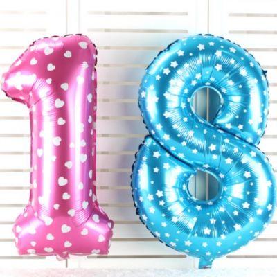 Zahl Luftballon XL 75CM Nummer Folienballon Blau 1 - 1