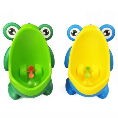 Frog Urinal Kinder Töpfchen Toilette Jungen Lerntöpfchen Blau Gelb - 1