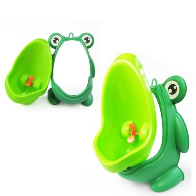 Frog Urinal Kinder Töpfchen Toilette Jungen Lerntöpfchen Blau Gelb - 3