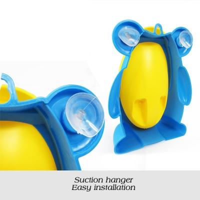 Frog Urinal Kinder Töpfchen Toilette Jungen Lerntöpfchen Blau Gelb - 4