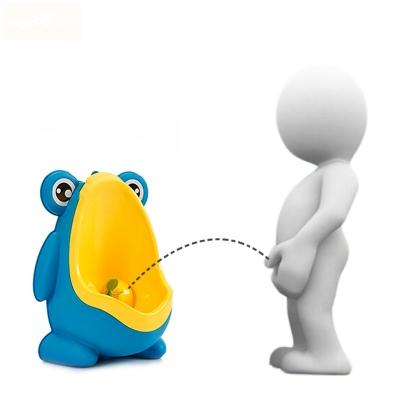 Frog Urinal Kinder Töpfchen Toilette Jungen Lerntöpfchen Blau Gelb - 5