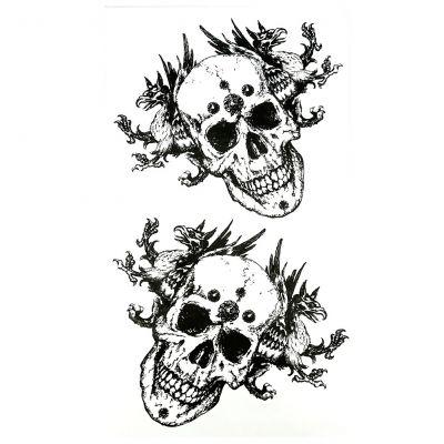 Temporäres Tattoo Totenkopf Chimära Design Temporary Klebetattoo Körperkunst - 1