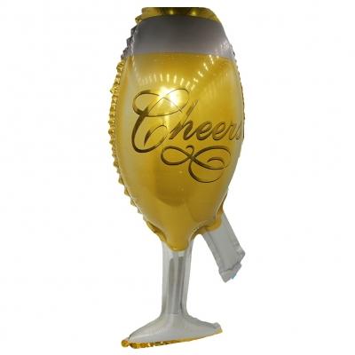Champagner Sekt Flasche Glas Folienballon 44 x 20 CM Luftballon - 2