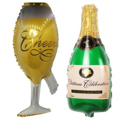 Champagner Sekt Flasche Folienballon 44 x 20 CM Luftballon - 1