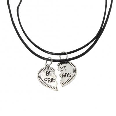 2 x Halskette BFF best friends Freundschaft Herz Set Modell 3 - 2