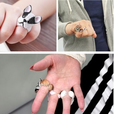Tier Ring Modeschmuck One Size in 6 Varianten - 1